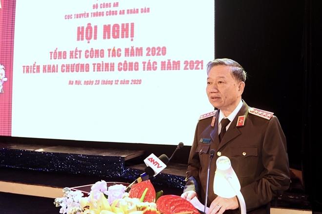 Bộ trưởng Tô Lâm chỉ đạo Hội nghị triển khai công tác Cục Truyền thông CAND - Ảnh minh hoạ 3