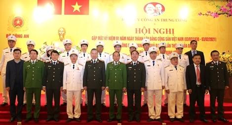 Đảng ủy Công an Trung ương gặp mặt nhân kỷ niệm 91 năm Ngày thành lập Đảng