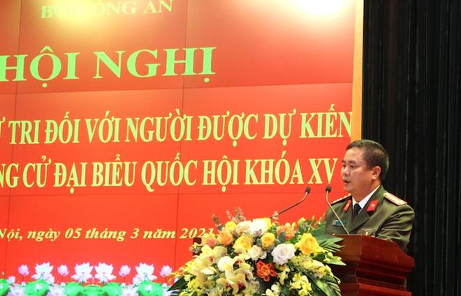 Bộ Công an giới thiệu Bộ trưởng Tô Lâm và 3 đồng chí ứng cử đại biểu Quốc hội khóa XV - Ảnh minh hoạ 4