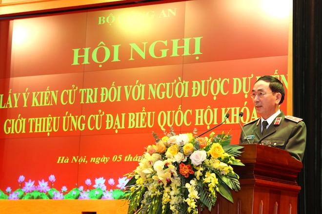 Bộ Công an giới thiệu Bộ trưởng Tô Lâm và 3 đồng chí ứng cử đại biểu Quốc hội khóa XV - Ảnh minh hoạ 3