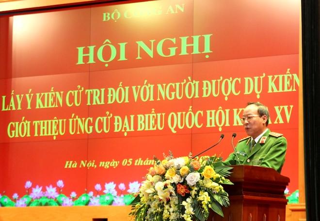 Bộ Công an giới thiệu Bộ trưởng Tô Lâm và 3 đồng chí ứng cử đại biểu Quốc hội khóa XV - Ảnh minh hoạ 2