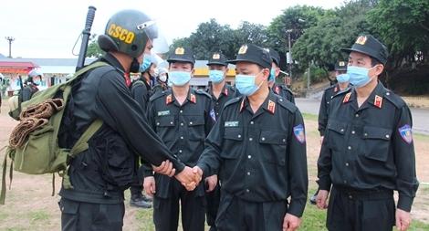 Bộ Tư lệnh Cảnh sát cơ động tăng cường 256 CBCS hỗ trợ Bắc Giang chống dịch