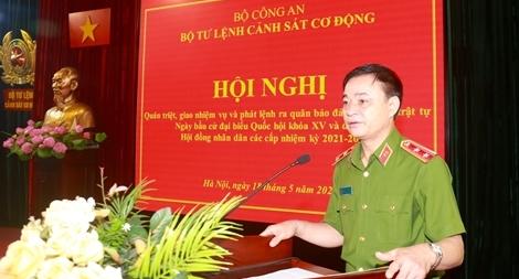 Phát lệnh ra quân bảo đảm ANTT Ngày bầu cử trong toàn lực lượng Cảnh sát cơ động