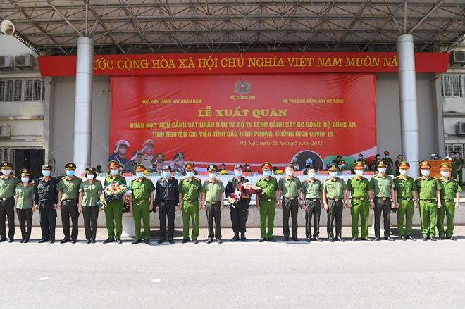 100 CSCĐ và 300 học viên CS lên đường chi viện cho Bắc Ninh - Ảnh minh hoạ 9