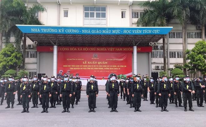 100 CSCĐ và 300 học viên CS lên đường chi viện cho Bắc Ninh - Ảnh minh hoạ 4
