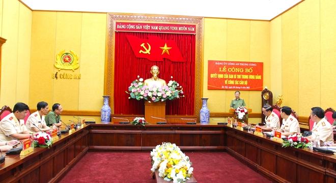 Công bố quyết định chuẩn y UBKT Đảng ủy Công an Trung ương - Ảnh minh hoạ 5