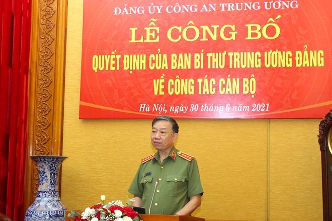 Công bố quyết định chuẩn y UBKT Đảng ủy Công an Trung ương