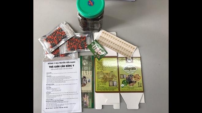 Một số sản phẩm thuốc tăng cân, giảm cân do cơ sở của vợ chồng Đặng Việt Đông làm giả