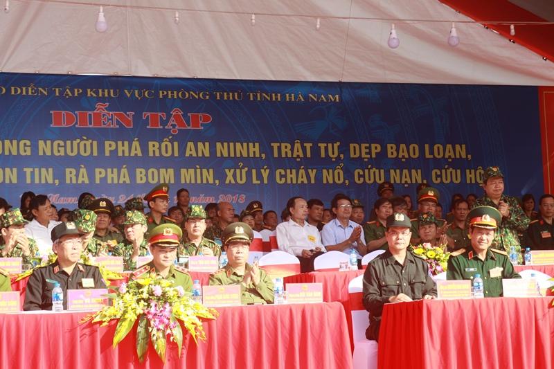 Diễn tập khu vực phòng thủ tỉnh Hà Nam năm 2018
