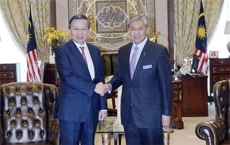 Hội đàm cấp cao giữa Bộ Công an Việt Nam và Bộ Nội vụ Malaysia
