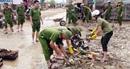 Lực lượng Công an chủ động khắc phục hậu quả mưa, lũ