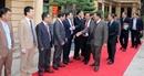 Đoàn đại biểu Tổng cục Trại giam Vương quốc Campuchia thăm và làm việc tại Trường trung cấp CSND VI