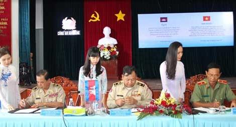 Sơ kết công tác hợp tác Công an 3 tỉnh giáp biên với Campuchia