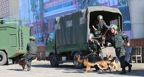 Diễn tập xử lý tình huống gây rối, gây bạo loạn, đánh bắt khủng bố