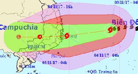 Bộ Công an chỉ đạo chủ động ứng phó với bão Damrey