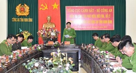 Kiểm tra công tác xử lý tội phạm tham nhũng tại CA Ninh Bình