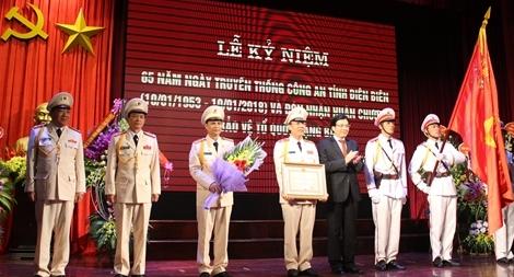 Công an tỉnh Điện Biên đón nhận Huân chương Bảo vệ Tổ quốc hạng Ba