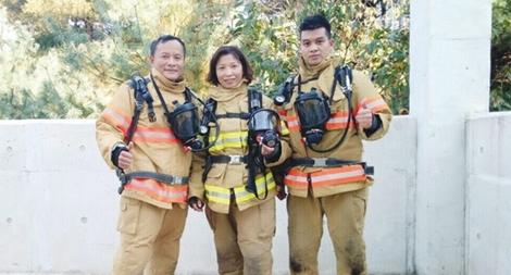 """""""Bông hồng thép"""" của Cảnh sát Phòng cháy chữa cháy Thủ đô"""