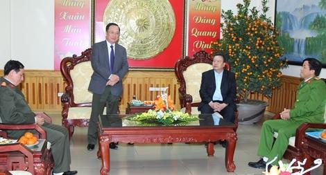 Lãnh đạo Bộ Công an kiểm tra công tác ứng trực tại Hà Nam