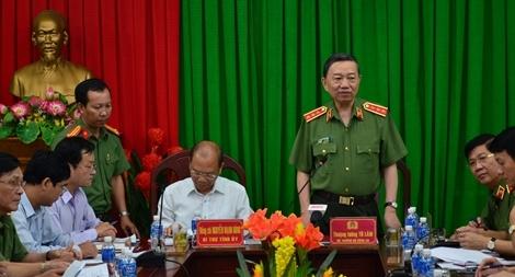 Bộ trưởng Tô Lâm làm việc tại Công an tỉnh Bình Thuận