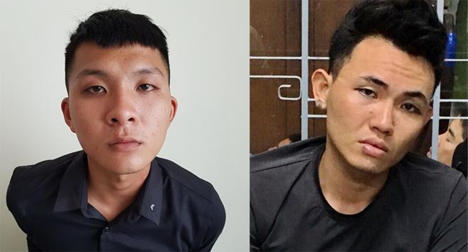 Hai đối tượng bị bắt tại cơ quan điều tra.