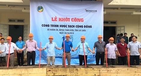 Heineken Nam tài trợ công trình nước sạch cho cộng đồng tại Lai Châu