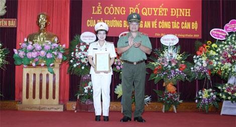 Công bố quyết định bổ nhiệm Phó Giám đốc Công an tỉnh Yên Bái