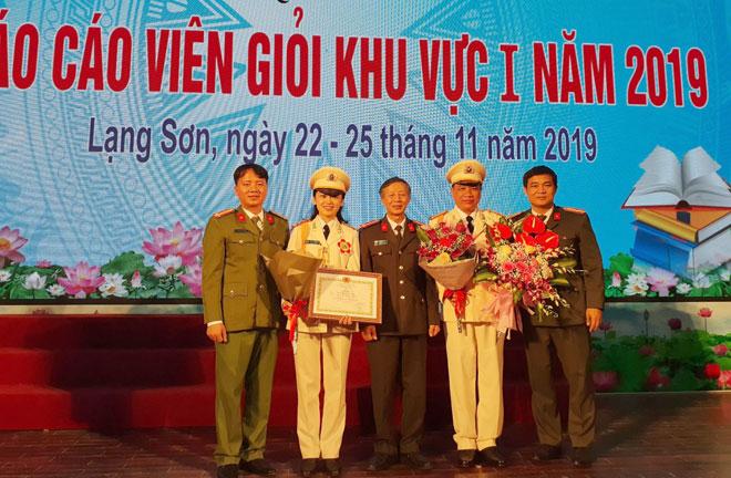 Thí sinh Học viện CSND đoạt giải ba Hội thi Báo cáo viên giỏi khu vực I