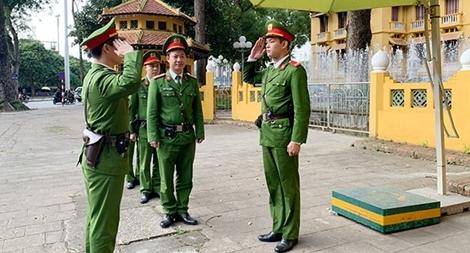 Những chiến sỹ Cảnh sát bảo vệ cơ quan đại diện Ngoại giao