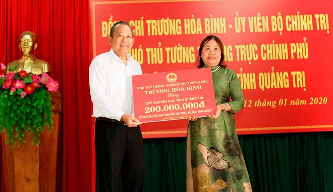 Phó Thủ tướng Thường trực tặng quà Tết đồng bào nghèo Quảng Trị - Ảnh minh hoạ 3
