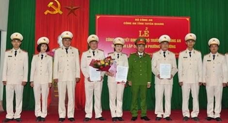 Thành lập  3 Công an phường thuộc TP Tuyên Quang