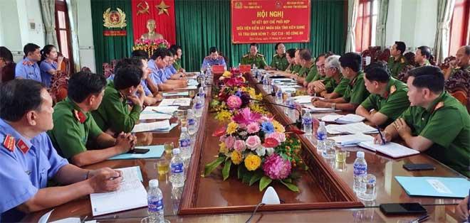 Sơ kết Quy chế phối hợp giữa Viện kiểm sát tỉnh Kiên Giang và Trại giam Kênh 7