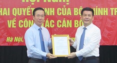 Bộ Chính trị phân công Bí thư Tỉnh ủy Thái Bình giữ chức vụ Phó trưởng Ban Tuyên giáo Trung ương