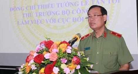 Thứ trưởng Lê Tấn Tới làm việc với Cục Đối ngoại