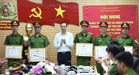 Khen thưởng các đơn vị khám phá nhanh vụ cướp ngân hàng BIDV Ngọc Khánh