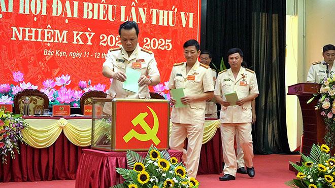 Đại hội Đại biểu Đảng bộ Công an tỉnh Bắc Kạn lần thứ VI