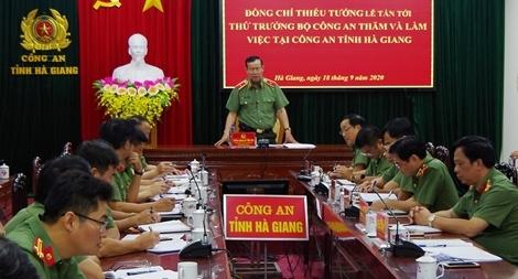 Bảo đảm tuyệt đối an ninh trật tự trên địa bàn tỉnh Hà Giang