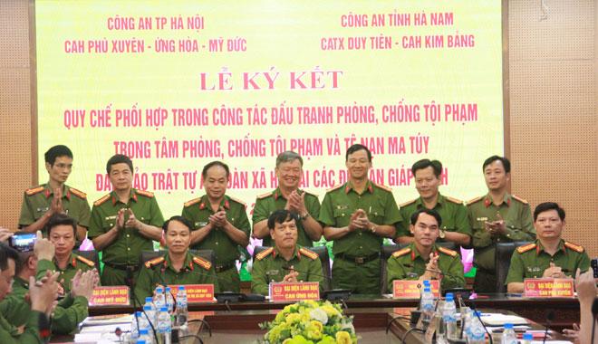Công an Hà Nội và Hà Nam ký kết Quy chế phối hợp phòng chống tội phạm