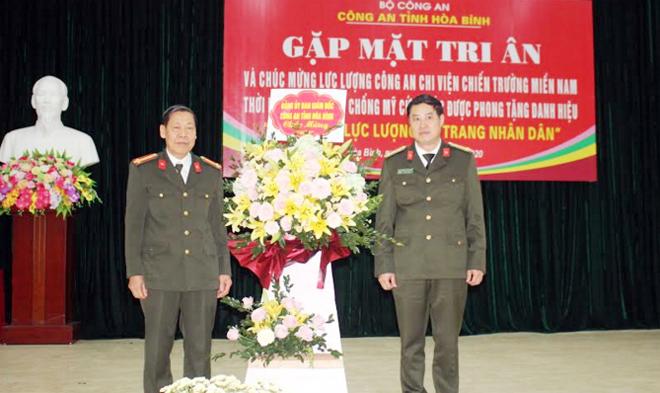 Công an tỉnh Hòa Bình gặp mặt cán bộ Công an chi viện chiến trường miền Nam