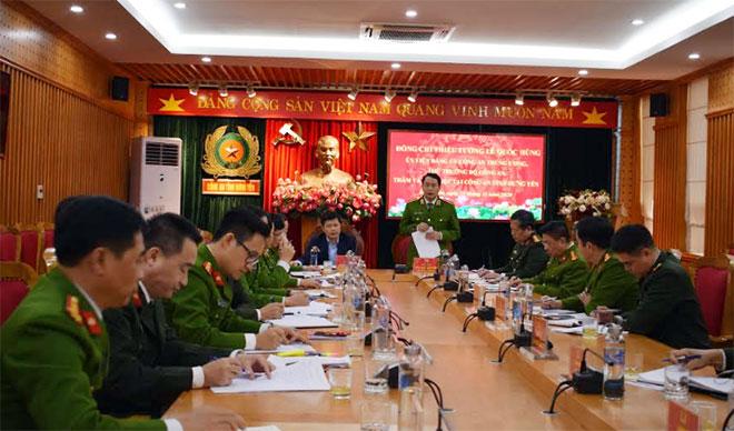 Thứ trưởng Lê Quốc Hùng kiểm tra công tác tại Công an tỉnh Hưng Yên