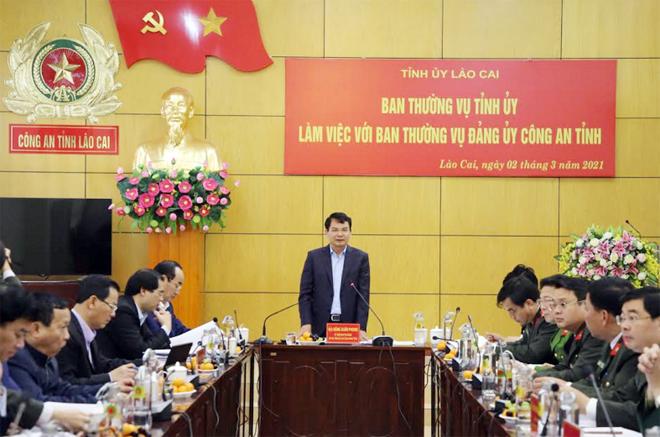 Ban Thường vụ Tỉnh ủy làm việc với Ban Thường vụ Đảng ủy Công an tỉnh Lào Cai - Ảnh minh hoạ 2