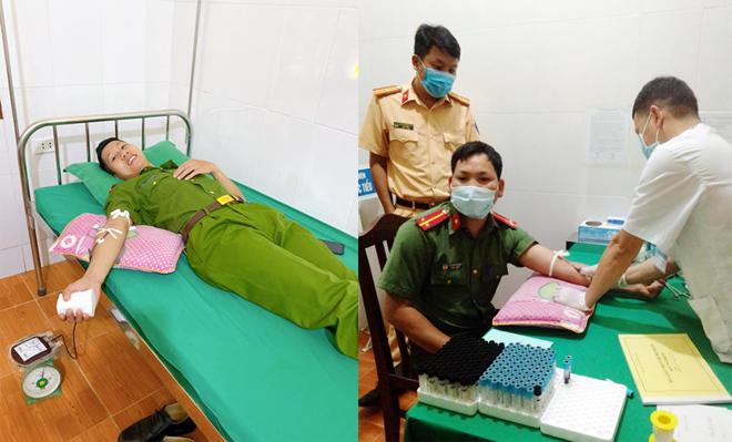 5 chiến sỹ hiến máu cứu sản phụ qua cơn nguy kịch