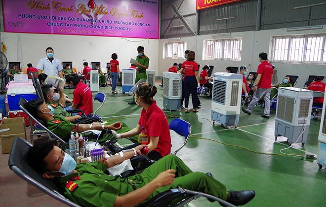 Công an Hà Giang hiến 350 đơn vị máu