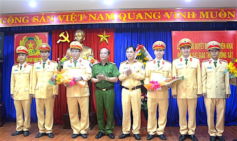 Ra mắt Đội CSGT đường sắt Công an Đà Nẵng