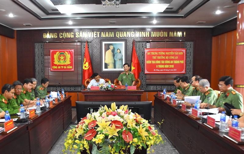 Lãnh đạo Bộ Công an thăm và kiểm tra công tác tại TP Đà Nẵng