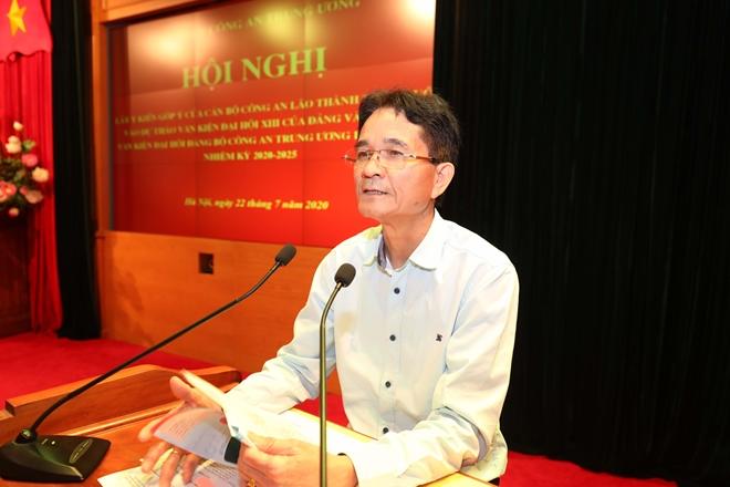 Cán bộ Công an lão thành đóng góp ý kiến vào dự thảo Văn kiện Đại hội Đảng bộ Công an Trung ương lần thứ VII - Ảnh minh hoạ 7