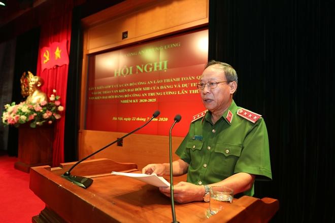 Cán bộ Công an lão thành đóng góp ý kiến vào dự thảo Văn kiện Đại hội Đảng bộ Công an Trung ương lần thứ VII - Ảnh minh hoạ 3