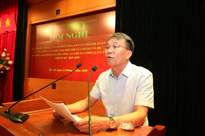 Cán bộ Công an lão thành đóng góp ý kiến vào dự thảo Văn kiện Đại hội Đảng bộ Công an Trung ương lần thứ VII - Ảnh minh hoạ 5