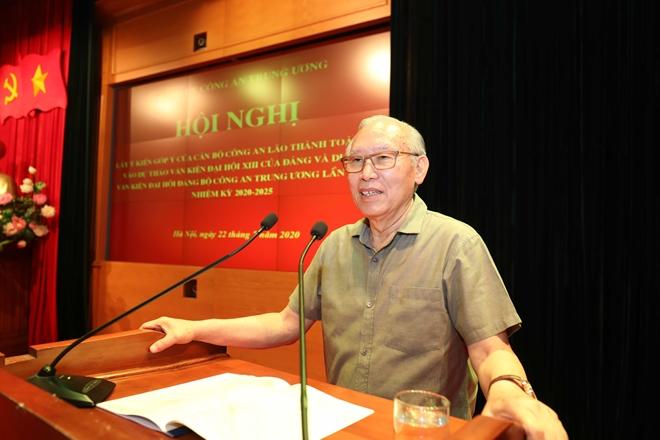 Cán bộ Công an lão thành đóng góp ý kiến vào dự thảo Văn kiện Đại hội Đảng bộ Công an Trung ương lần thứ VII - Ảnh minh hoạ 4