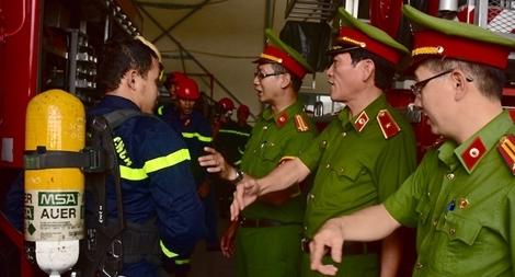 Kiểm tra công tác PCCC bảo vệ Tuần lễ Cấp cao APEC